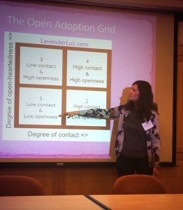 Lori Holden leads an open adoption workshop